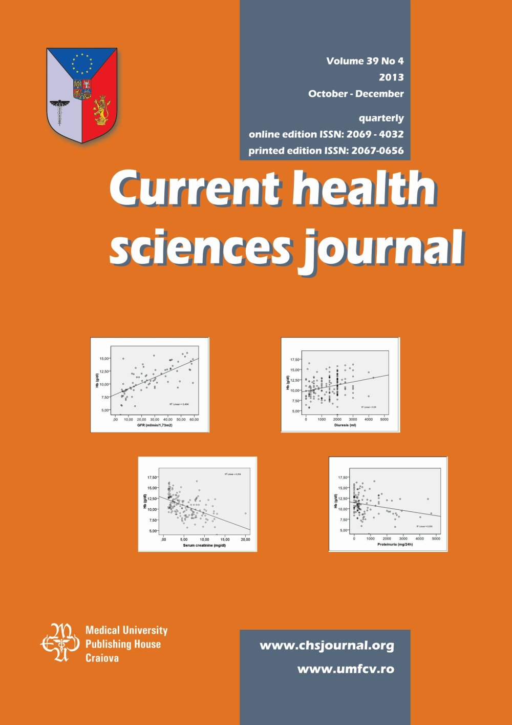 Current Health Sciences Journal, vol. 39 no. 4, 2013