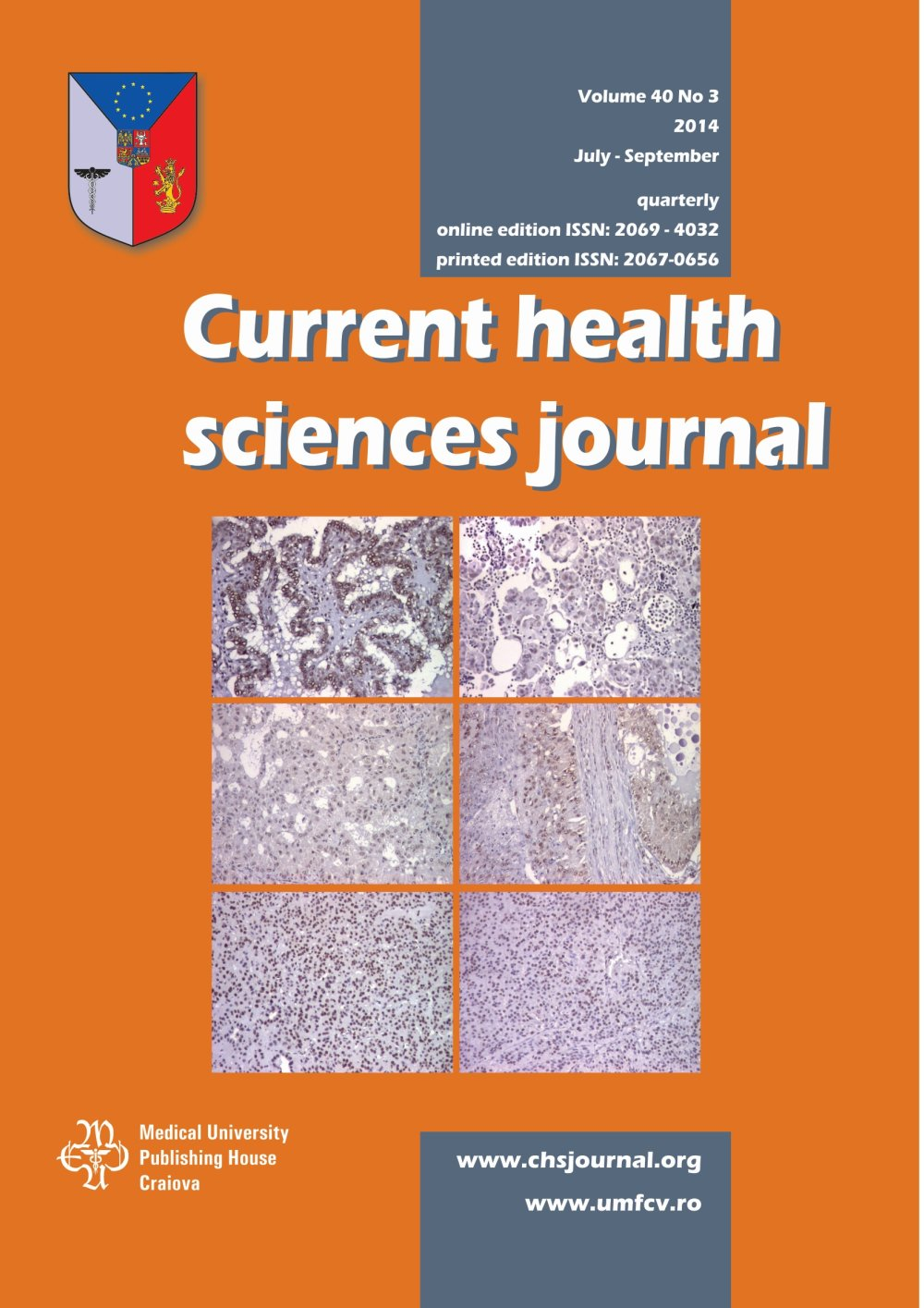 Current Health Sciences Journal, vol. 40 no. 3, 2014