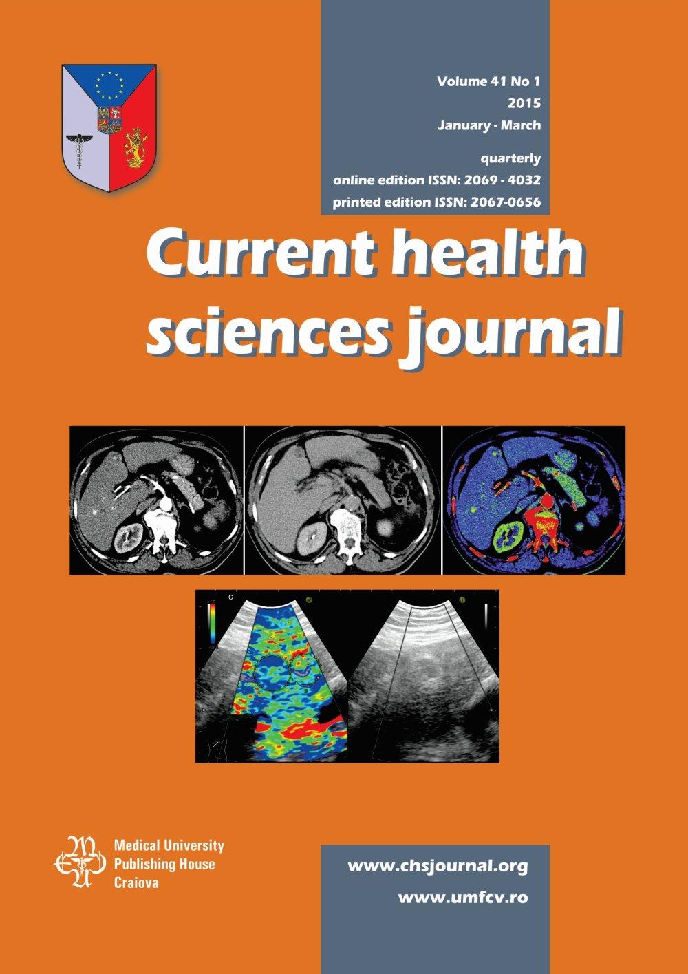 Current Health Sciences Journal, vol. 41 no. 1, 2015