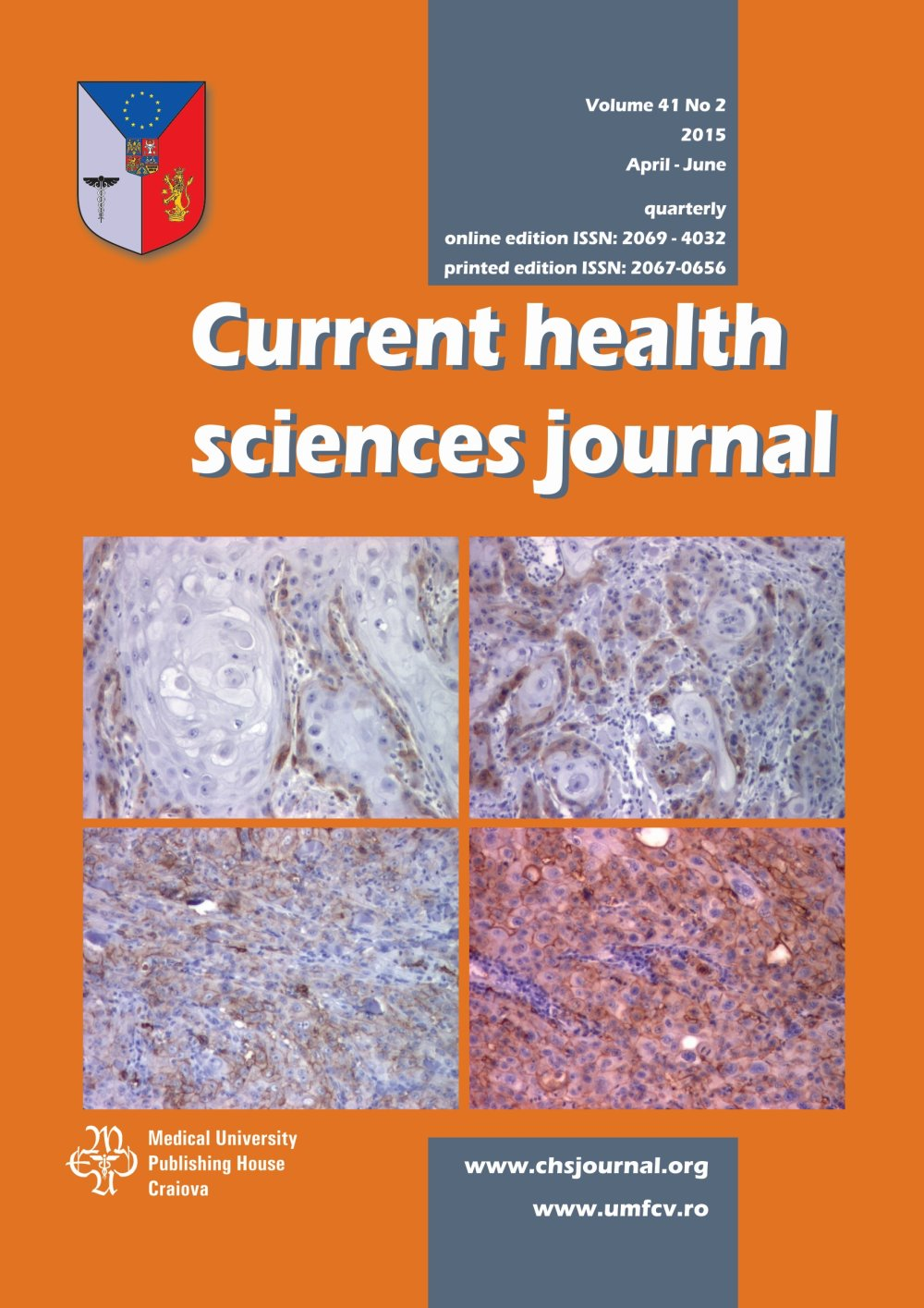 Current Health Sciences Journal, vol. 41 no. 2, 2015