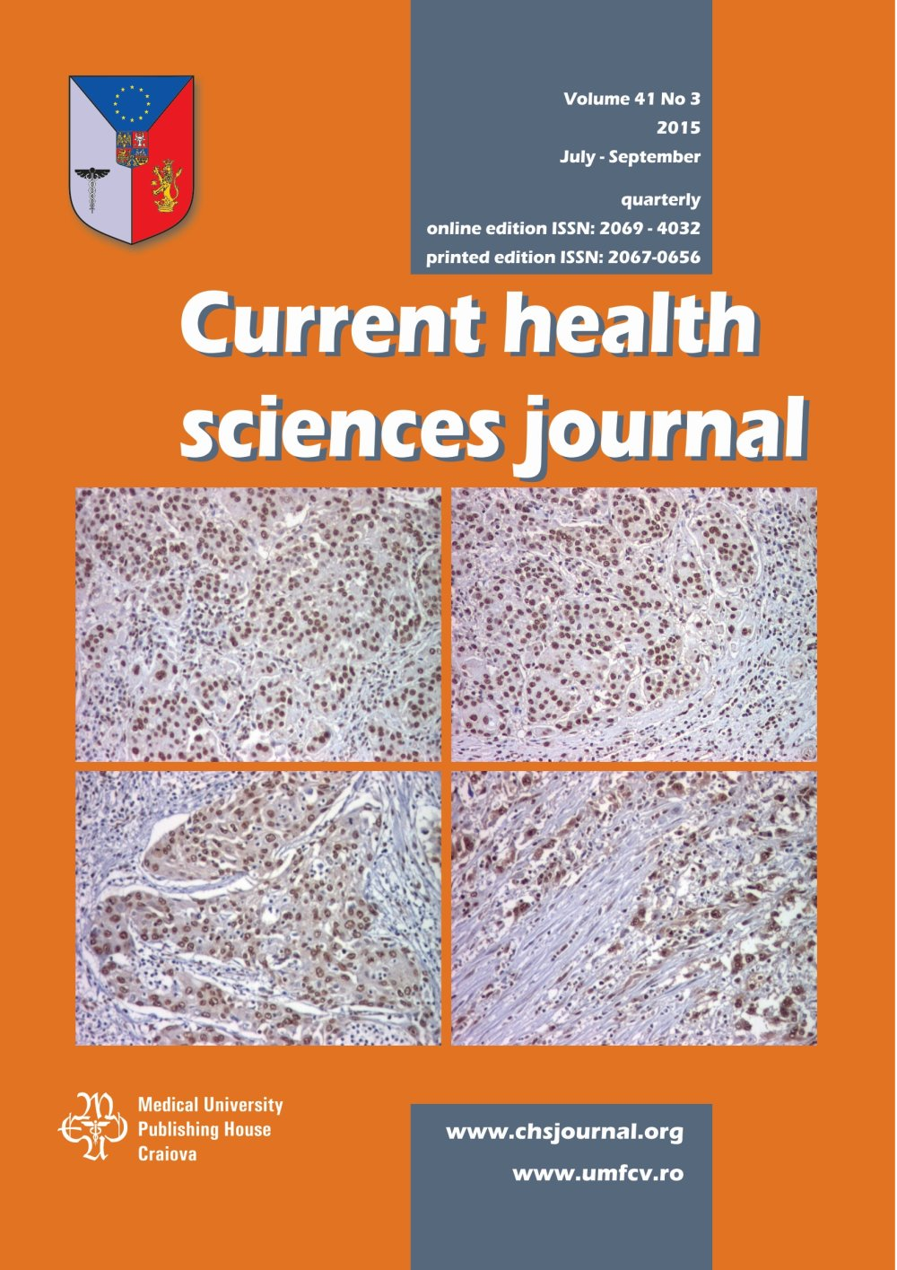 Current Health Sciences Journal, vol. 41 no. 3, 2015