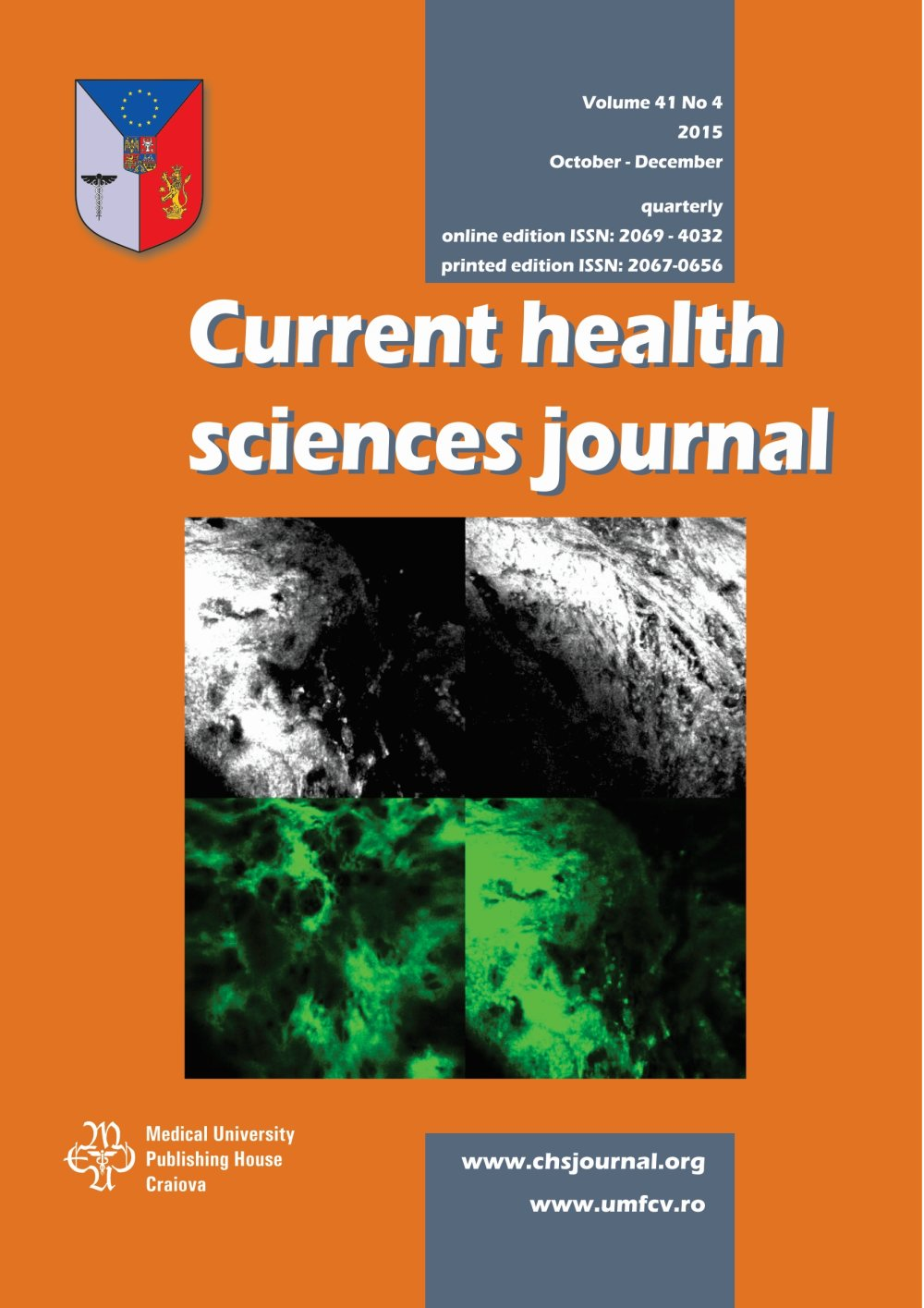 Current Health Sciences Journal, vol. 41 no. 4, 2015