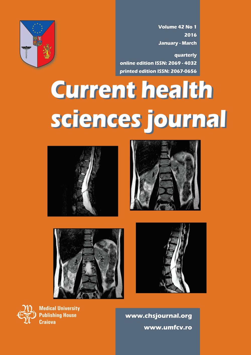 Current Health Sciences Journal, vol. 42 no. 1, 2016