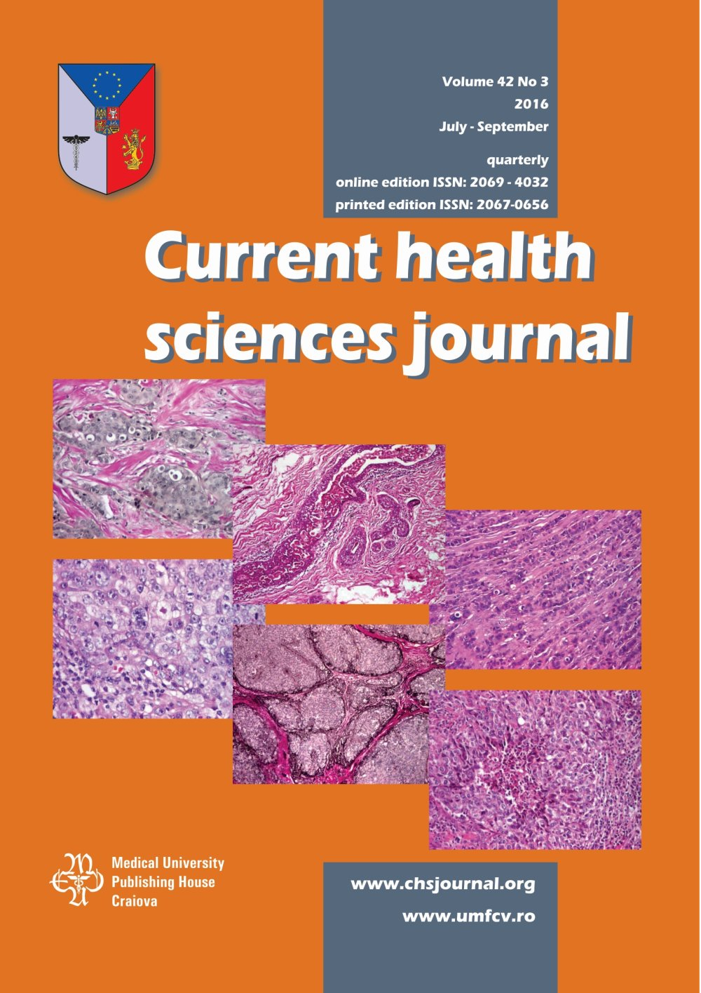 Current Health Sciences Journal, vol. 42 no. 3, 2016