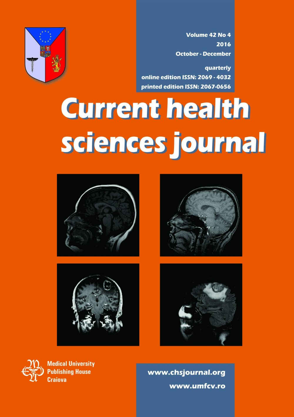 Current Health Sciences Journal, vol. 42 no. 4, 2016