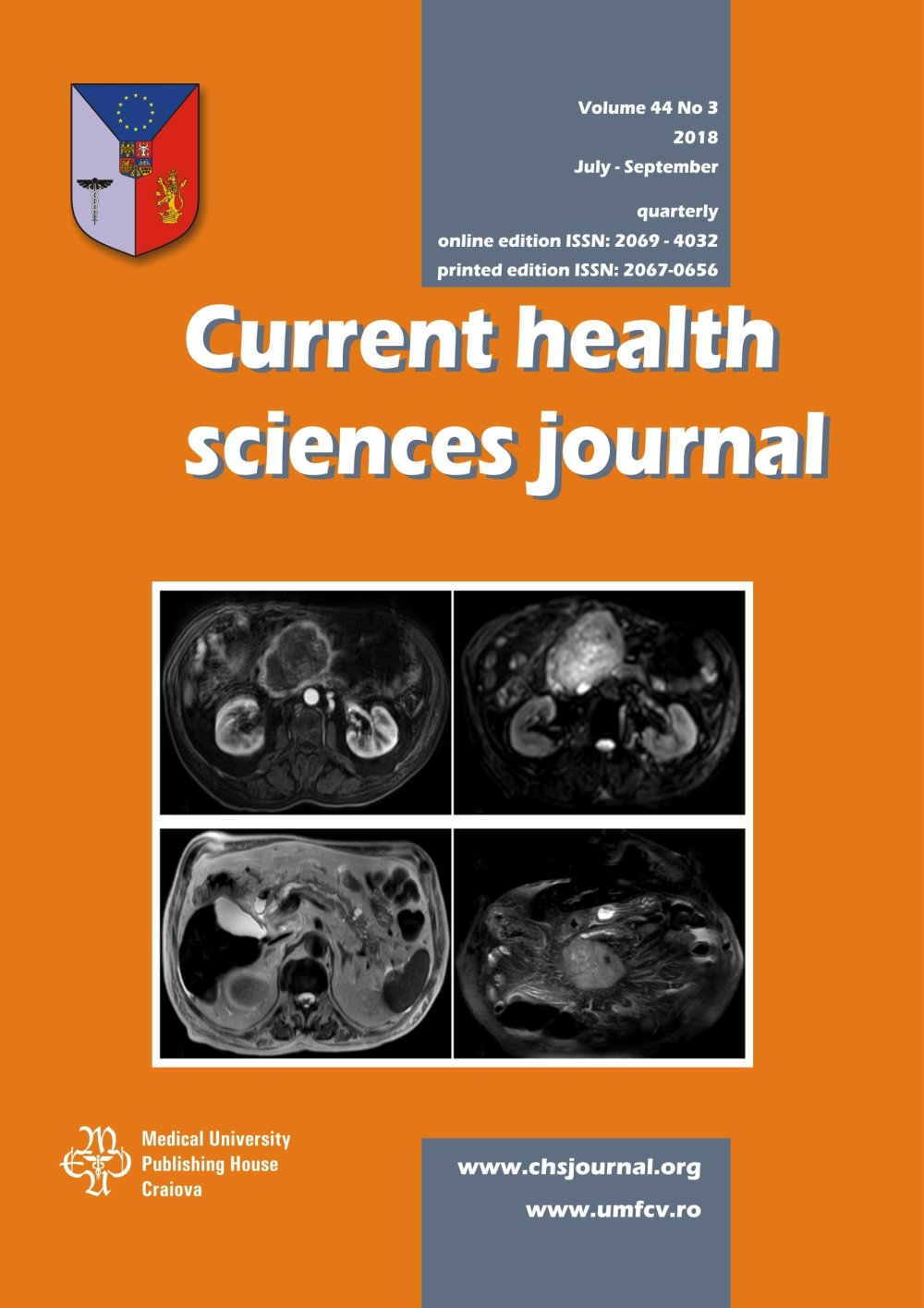 Current Health Sciences Journal, vol. 44 no. 3, 2018