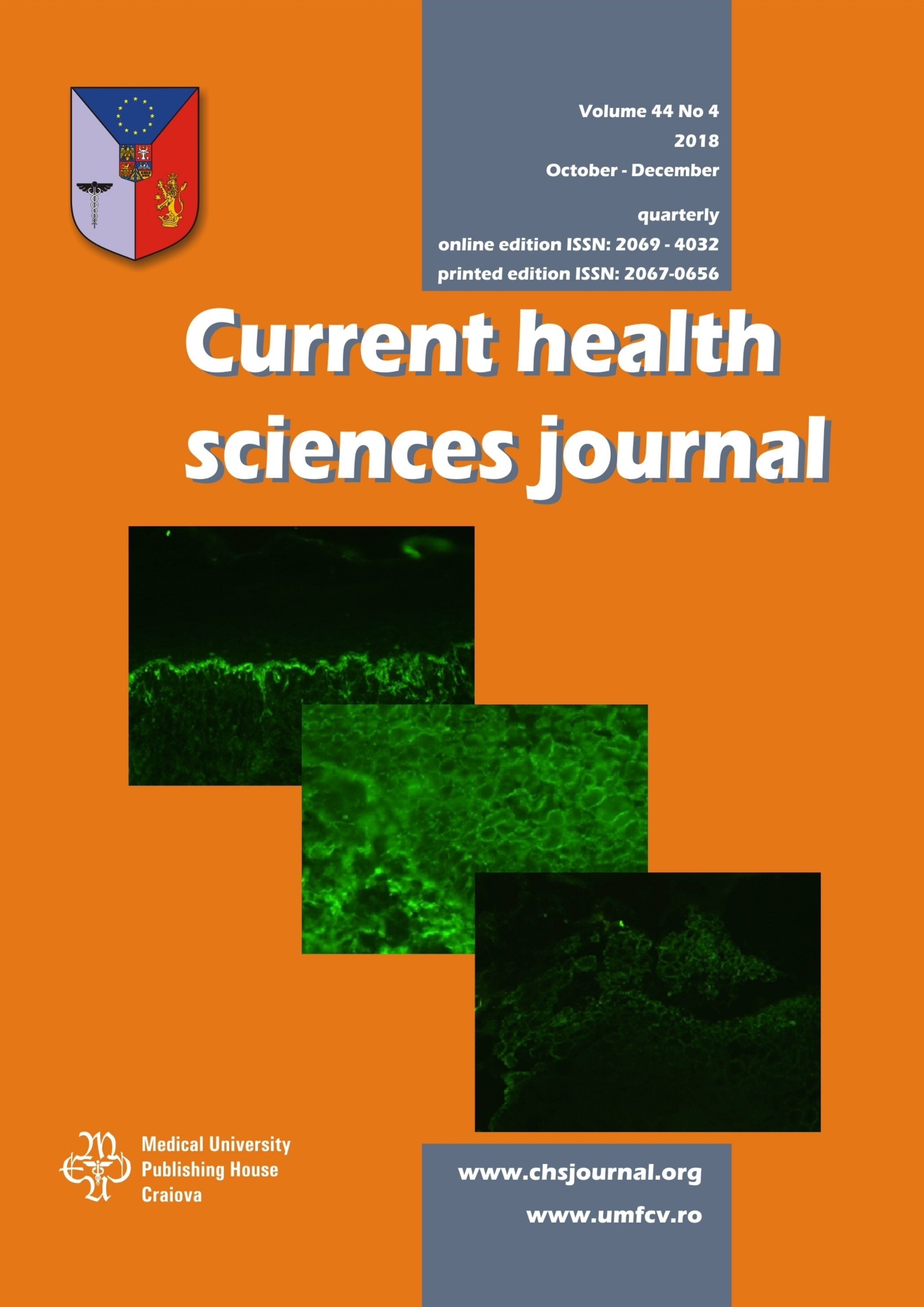 Current Health Sciences Journal, vol. 44 no. 4, 2018