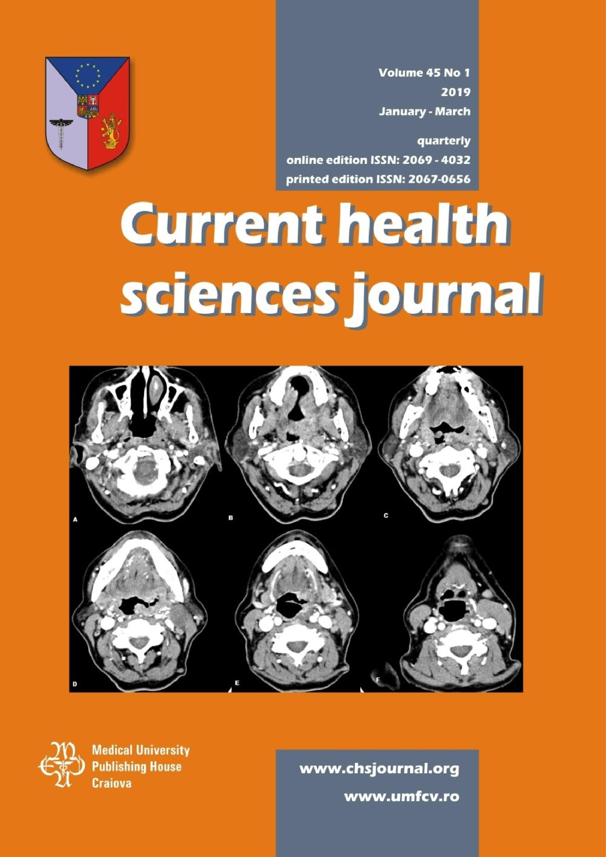 Current Health Sciences Journal, vol. 45 no. 1, 2019