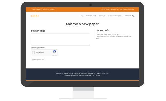 CHSJ online paper submission